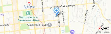 Зерлеу на карте Алматы