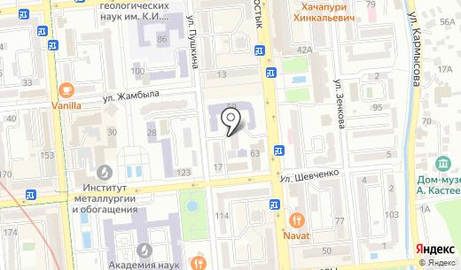 Аруна. Схема проезда в Алматы