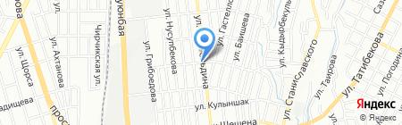 Кайнар на карте Алматы