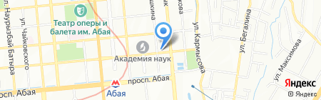 Ракса на карте Алматы