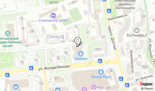 CIFAL-PAI KAZ. Схема проезда в Алматы