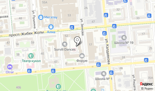 Банкомат Темирбанк. Схема проезда в Алматы