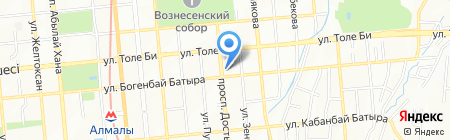 Метеор на карте Алматы