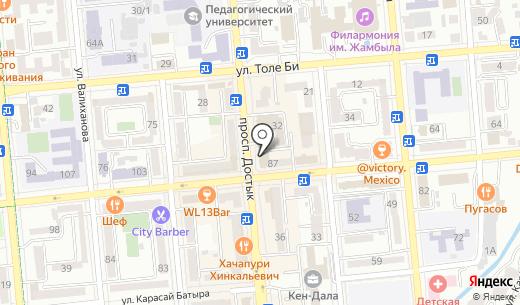 PROСПОРТ Казахстан. Схема проезда в Алматы