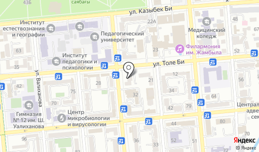 Konika. Схема проезда в Алматы