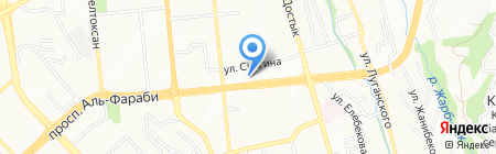 Незабудка на карте Алматы