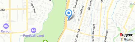 Экспериментальное предприятие Казахского общества слепых на карте Алматы