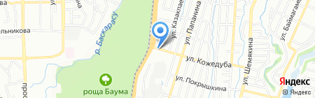 SM-TAXI на карте Алматы