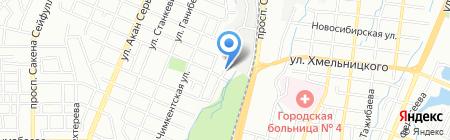 ВАУ на карте Алматы
