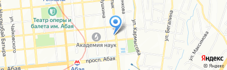 Дареджани на карте Алматы