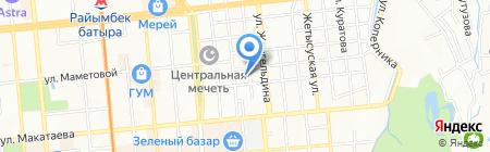 Юмгискор на карте Алматы