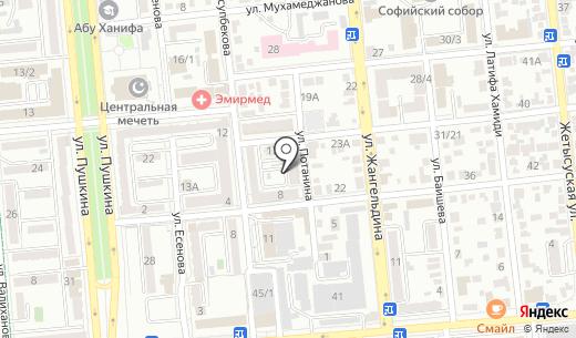 Юмгискор. Схема проезда в Алматы