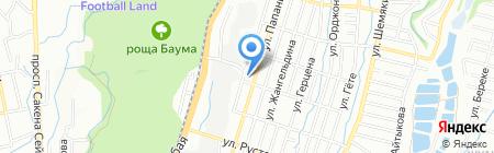 Инструмент на карте Алматы