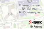 Схема проезда до компании Ясли-сад №115 в Алматы