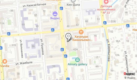 Банкомат БТА Банк. Схема проезда в Алматы