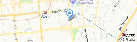 Green Apple на карте Алматы
