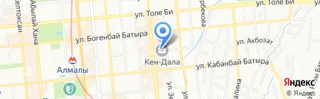 Кен Дала на карте Алматы