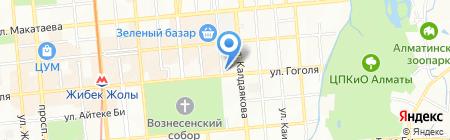 Генерация ТОО на карте Алматы