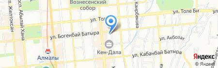 Страховой полис на карте Алматы