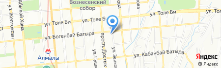 Комфорт полис на карте Алматы
