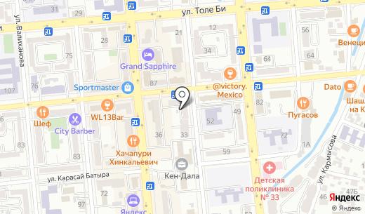 Комфорт полис. Схема проезда в Алматы