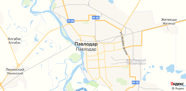 Павлодар на карте