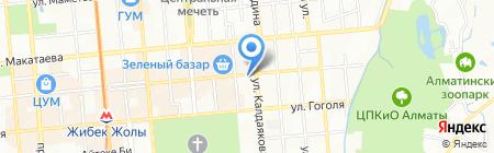 Дауыр на карте Алматы