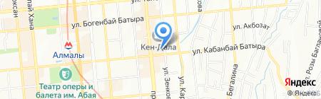 Управление юстиции Жетысуского района г. Алматы на карте Алматы