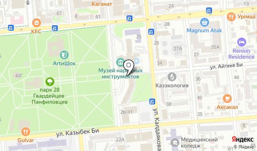 Ассортимент. Схема проезда в Алматы