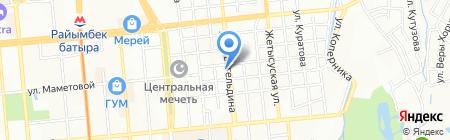 Пункт приема стеклотары на ул. Жангельдина на карте Алматы