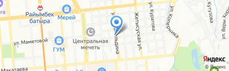 Цветочный магазин на ул. Жангельдина на карте Алматы