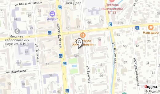 Onimet LTD. Схема проезда в Алматы