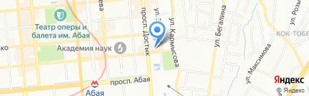 Бейрут на карте Алматы