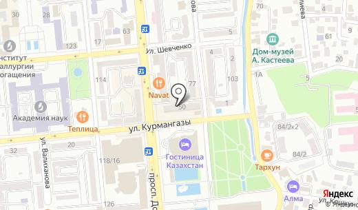 Lazimpex. Схема проезда в Алматы
