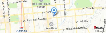 Мустанг на карте Алматы