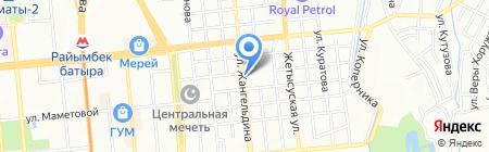 Дунганка на карте Алматы