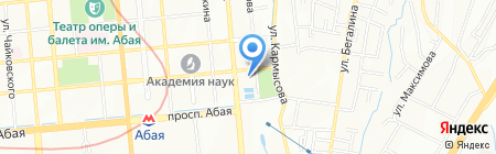 Люкс Такси на карте Алматы