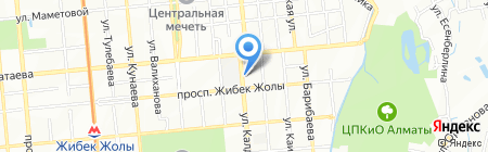 Эльвира на карте Алматы