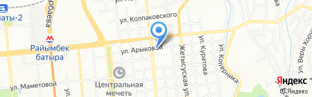 Уш киян на карте Алматы
