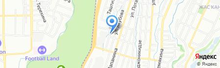 Баня на ул. Казакпаева на карте Алматы