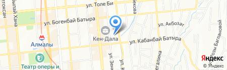 Ясли-сад №105 на карте Алматы