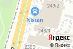 Схема проезда до компании NISSAN в Алматы