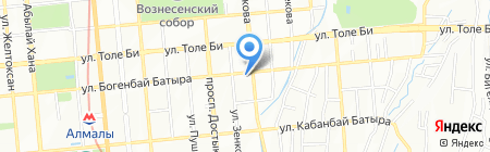 Светодизайн на карте Алматы