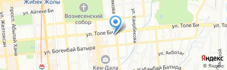 Нотариус Алчинбаева А.Н. на карте Алматы