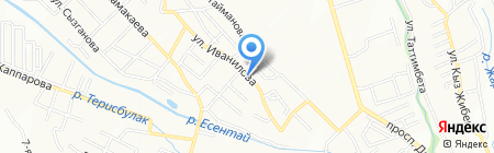 Нотариус Тулендинова А.Б. на карте Алматы