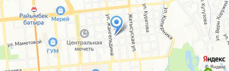 Скандинавский курьер на карте Алматы