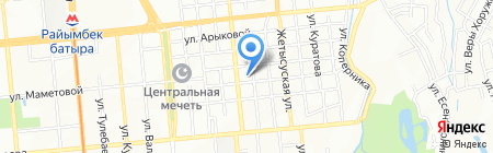 Пёстрая корова на карте Алматы