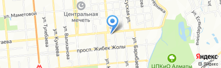 Бурли на карте Алматы