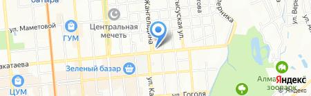 Белая техника на карте Алматы