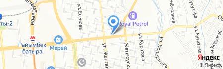 Донсан на карте Алматы